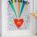 It's Love Personalised Rainbow Wedding Print
