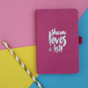 Personalised Notebook - writing