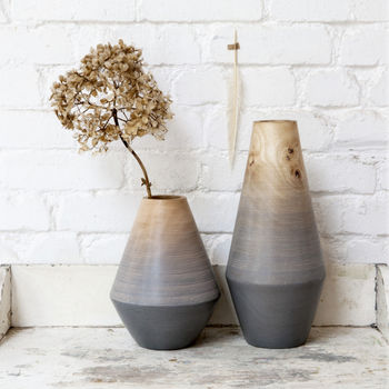Blue Grey Ombre Vase