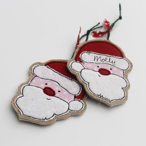 Personalised Father Christmas Decoration