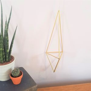 Brass Himmeli 'Tri' Geometric Plant Holder
