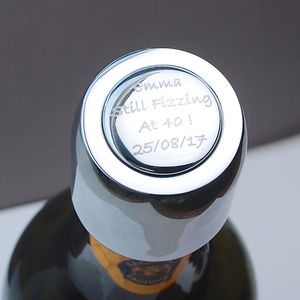 Personalised Prosecco Bottle Stopper - best wedding gifts