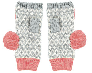 Pink Graphic Fingerless Gloves - view all new