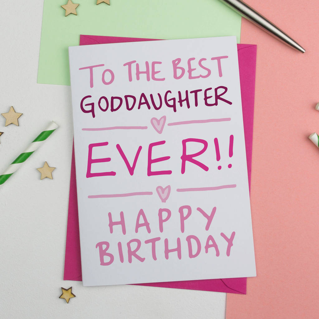 Goddaughter Birthday Card By A Is For Alphabet