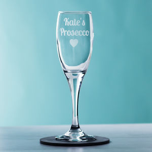 Personalised Prosecco Glass - birthday gifts