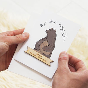 Personalised Bear Hug Father's Day Card