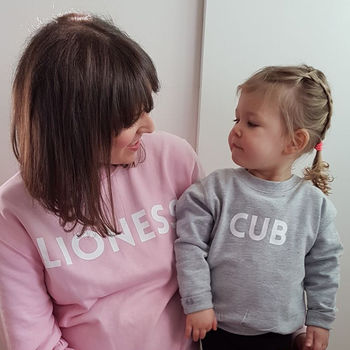 'Lioness And Cub' Sweatshirt Jumper Set