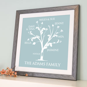 Personalised Family Tree Print - nursery pictures & prints