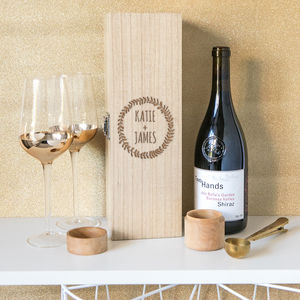 Personalised Wine Box Wedding Or Engagement Present - storage & organising