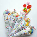 Personalised Pre Filled Spotty Party Cones