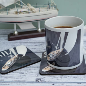 Sailing Mug And Coaster Set