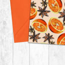 Oranges And Star Anise Pattern Christmas Cards