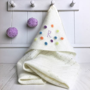 Pure Cashmere Hooded Baby Blanket - decorative accessories