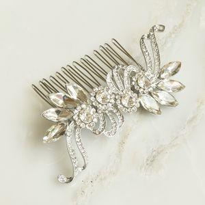 Sweeping Vintage Style Crystal Hair Comb - women's accessories