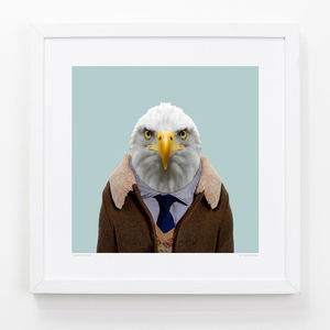 Bald Eagle Art Print - children's room