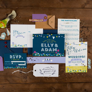Summer Fete Wedding Invitation