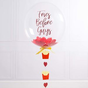 Fries Before Guys Personalised Galentine's Balloon - outdoor decorations