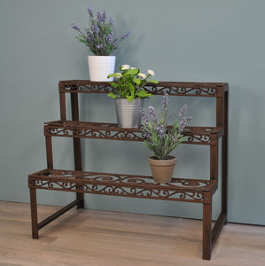 Cast Iron Etagere Three Tier Plant Stand - gardening
