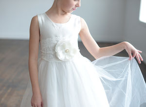 A Pure Silk Flower Girl Or First Communion Dress - baby & child