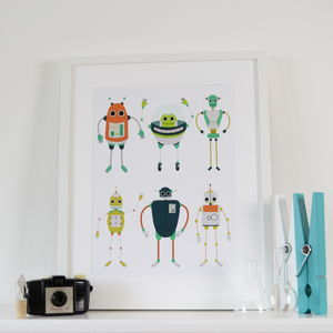Robots Children's Art Print