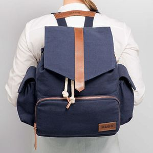 Unisex Canvas Changing Backpack