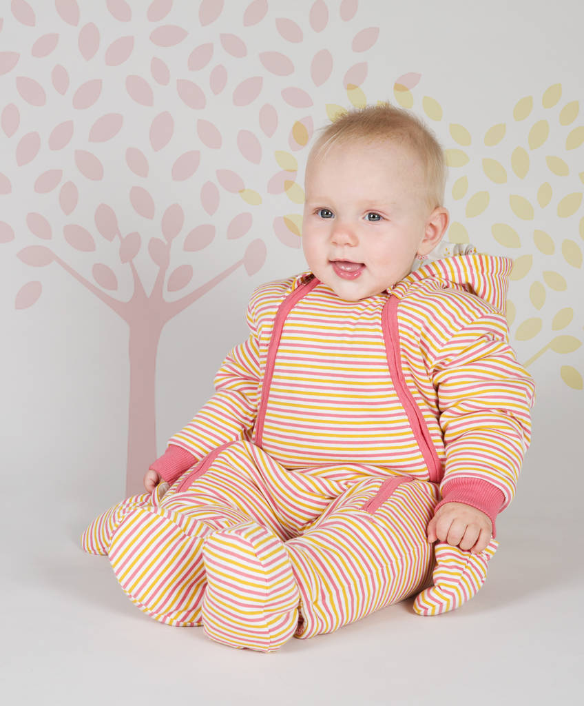 Autumn Stripe Heart Tree Snowsuit