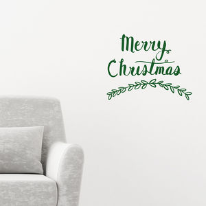 Merry Christmas Wall Sticker - home decorating