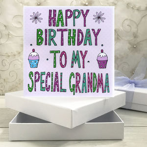 Personalised Grandma Birthday Book Card