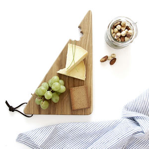 Wooden Oak Cheese Bite Serving Board