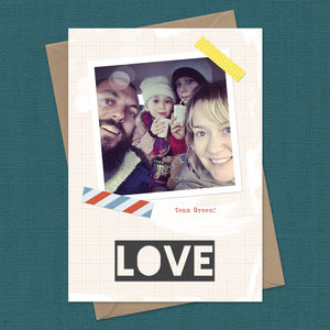 Personalised Instagram Love Card A5