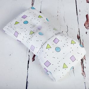 Shapes And Dots Muslin Swaddle Blanket