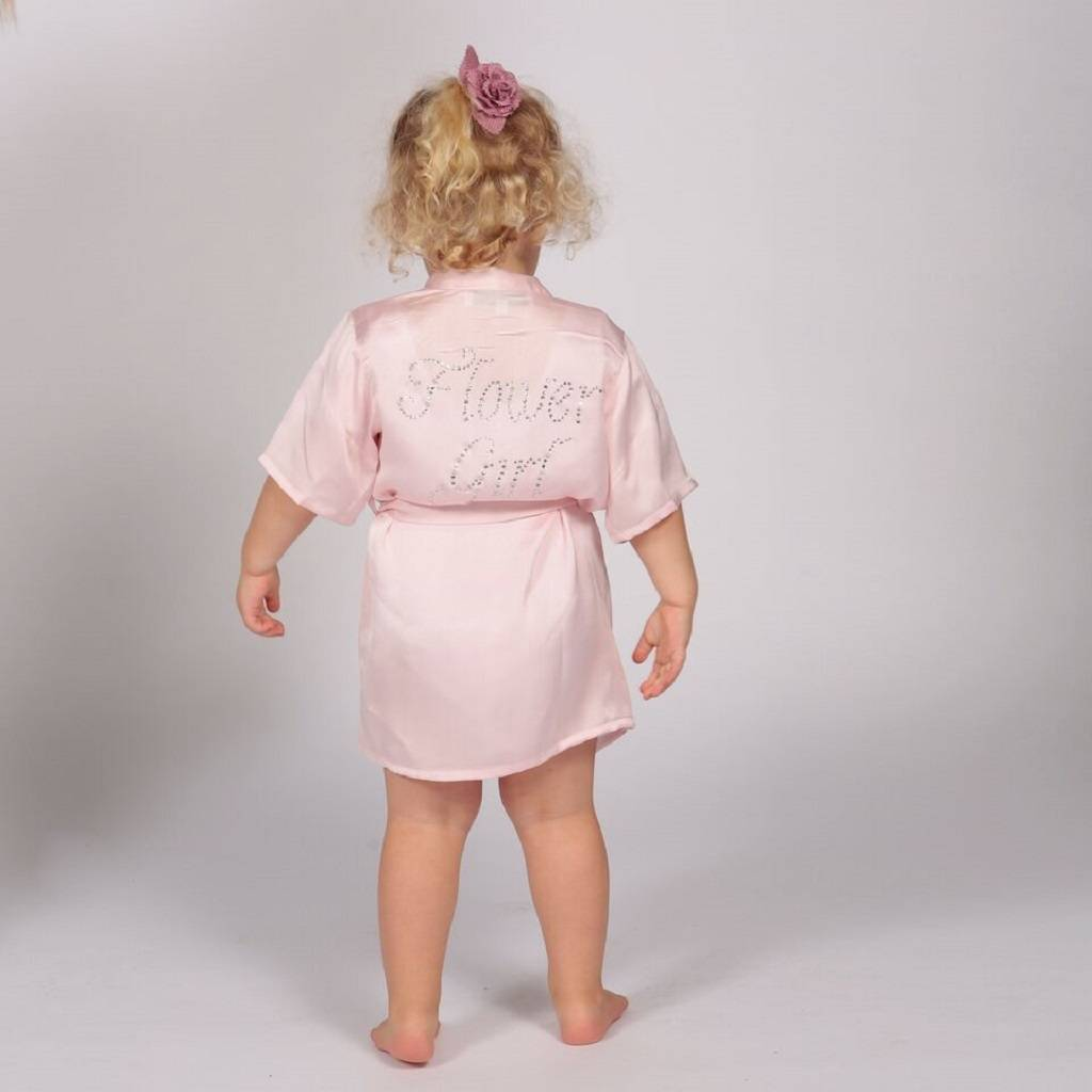 flower girl dressing gown by matchimony | notonthehighstreet.com