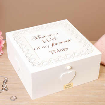 Personalised A Few Of My Favourite Things Keepsake Box