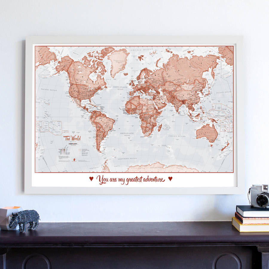 Personalised world is art map by maps international personalised world is art map gumiabroncs Choice Image