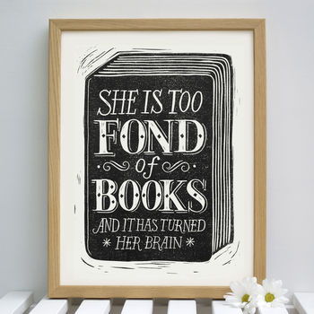 Reading Quote Book Print