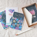 Set Of Eight Floral A6 Greeting Cards