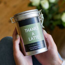 Novelty 'Thanks A Latte' Coffee Gift In Tin