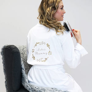 Personalised Women's Floral Dressing Gown