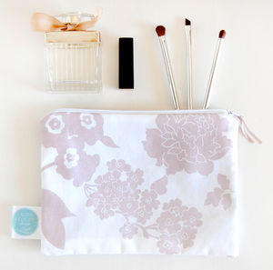 Floral Travel Cosmetic Bag, Lavender - make-up & wash bags
