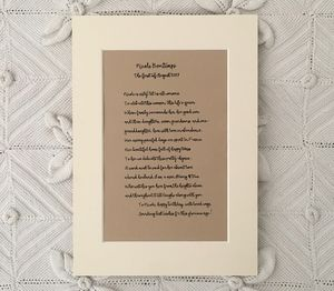 Personalised Poetry ~ Dedicated Special Event Sonnet