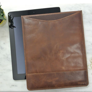 Personalised Vintage Leather iPad Case - new in fashion