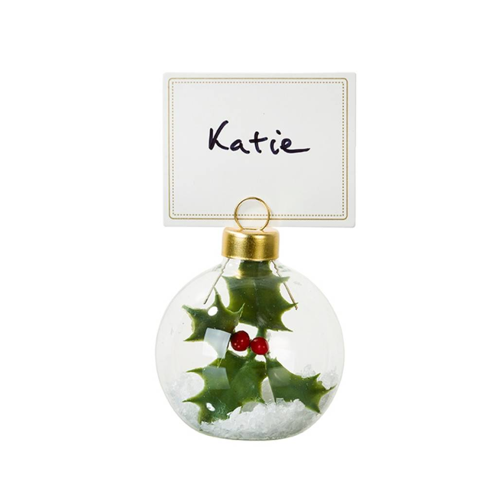 Christmas Bauble Placecard Holders By Bunting & Barrow