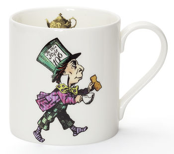 Mad Hatter Alice In Wonderland Fine Bone China Mug