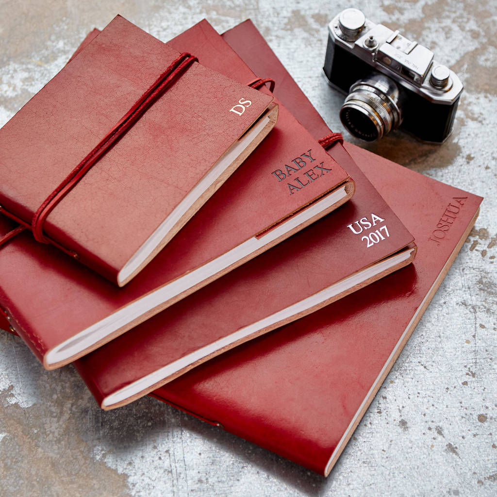 Handcrafted leather photo album