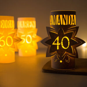 40th Birthday Personalised Star Lantern Centrepiece