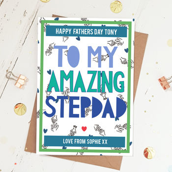 Happy Fathers Day Amazing Stepdad Card
