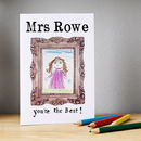 Personalised Mini Masterpiece Thank You Card