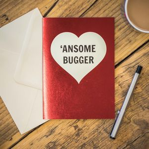 'Ansome Bugger Card - love & romance cards