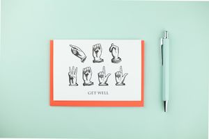 Get Well Soon, Sign Language Card