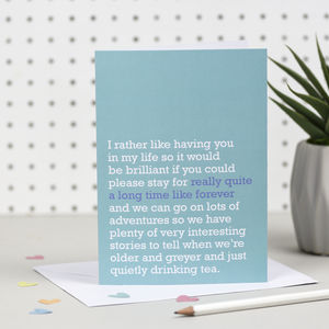 'Really Quite A Long Time Like Forever' Card - general birthday cards